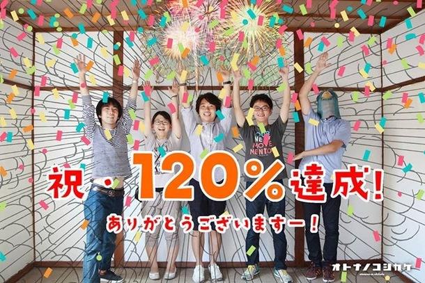 120%達成ありがとう!!