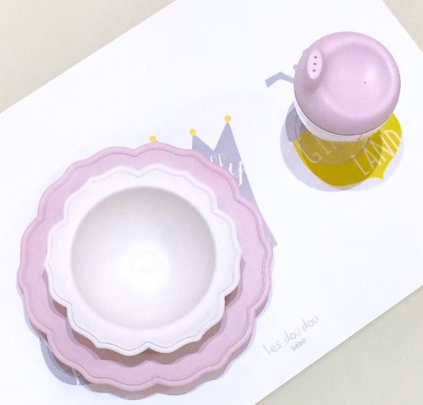 白小皿&ピンクボール