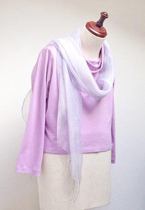 スカーフ ブルーグレー