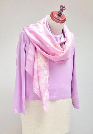 スカーフ 桜色