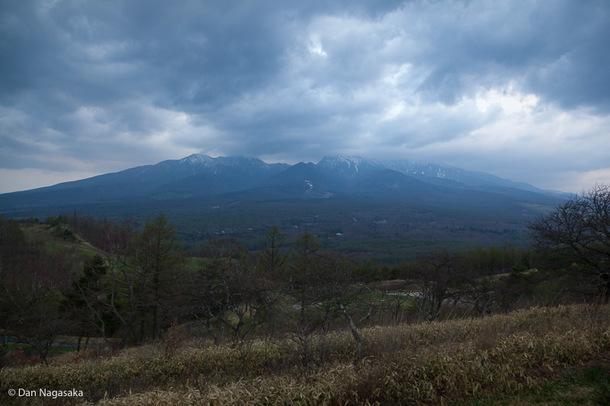 曇りの八ヶ岳