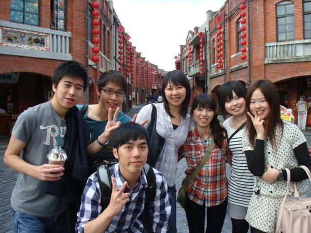 台湾人との集合写真