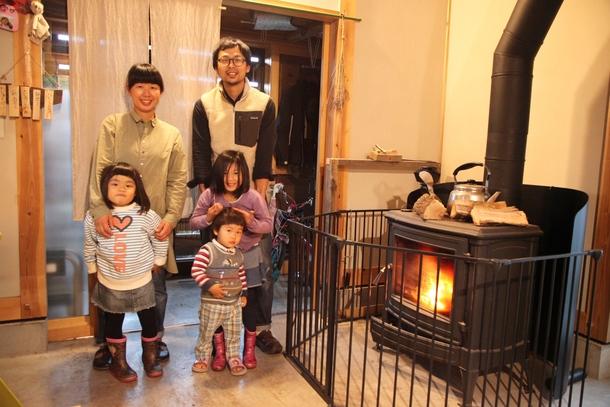 震災後に関東から移住された嵯峨さん一家