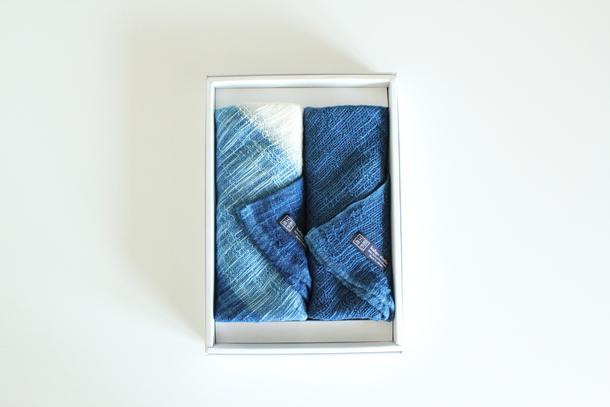 藍染めタオルギフトセット