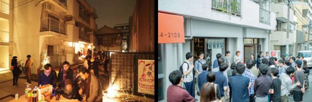 蝉 semiオープンングイベント(撮影:モクチン企画)/ ブリッヂオープンングイベント(撮影:吉屋亮)