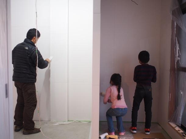 子供達も塗装や外壁の洗浄を手伝ってくれました!