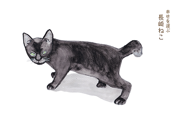 長崎尾曲り猫イラスト