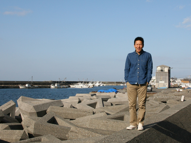 折野漁港背景