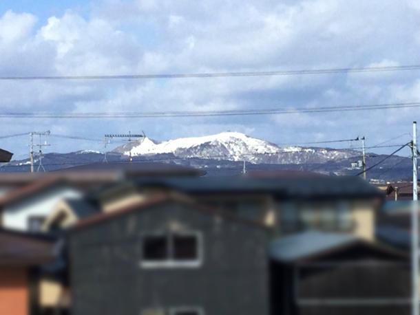 寒風山の冠雪