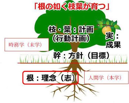 根のごとく枝葉が育つ