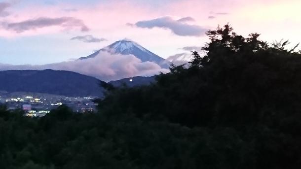 ここからの富士山はほっと一息 最高です!