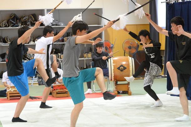 吉田高校練習風景