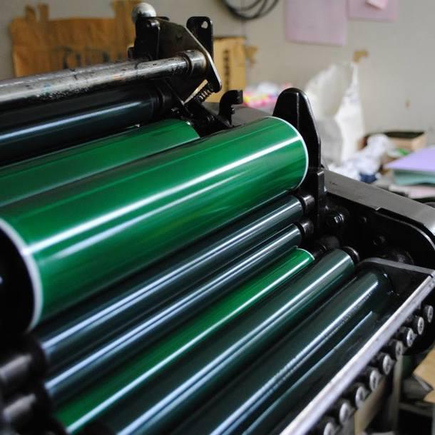 ヤマシナ印刷の印刷機