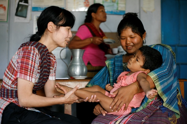 バングラデシュで活動中の理学療法士