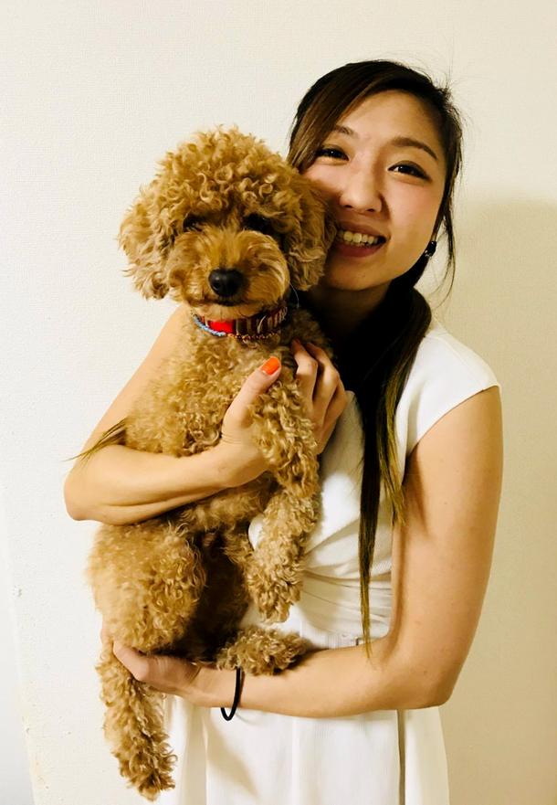 中新井美波さんと愛犬の南里くん