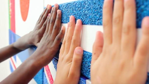 リオ2016・パラリンピック期間中・マリス作品展/リオの盲学校の生徒たち