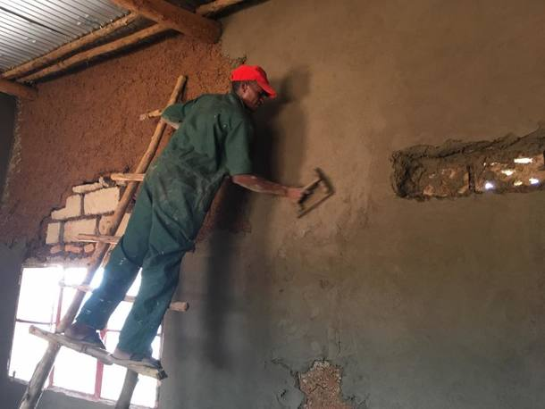 壁の仕上げ