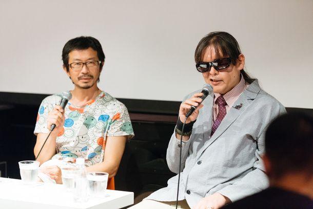 9月30日に行った中間上映&トークイベントでの高嶺格と加藤秀幸