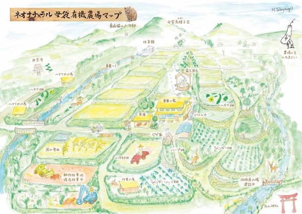 ネオナチュラル母袋有機農場マップ