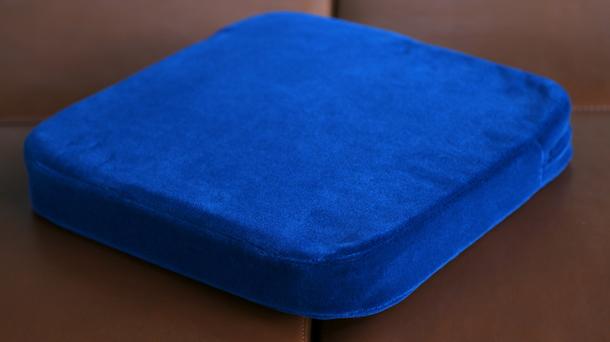 JNR Blue Moquette Cushion