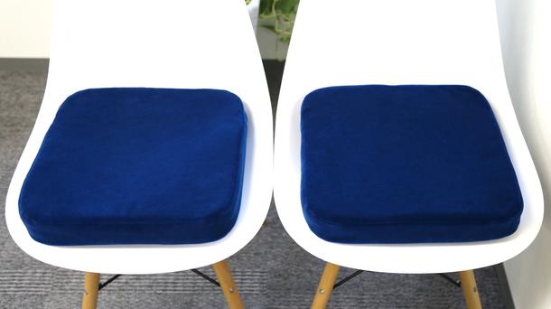 Couple of JNR Blue Moquette Cushion