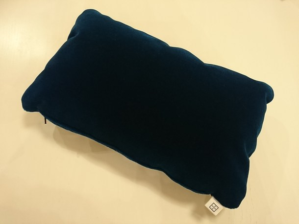 JNR Blue Moquette Mini Cushions