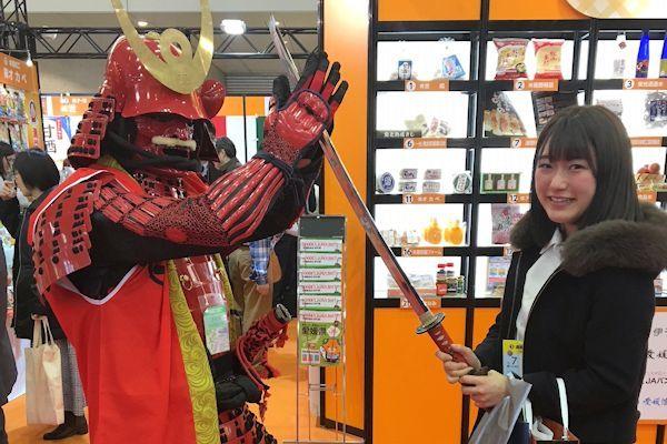 展示会で出会った鎧武者