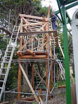 ツリーハウス建設2