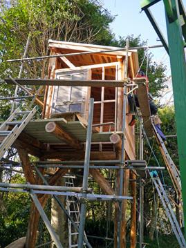 ツリーハウス建設5