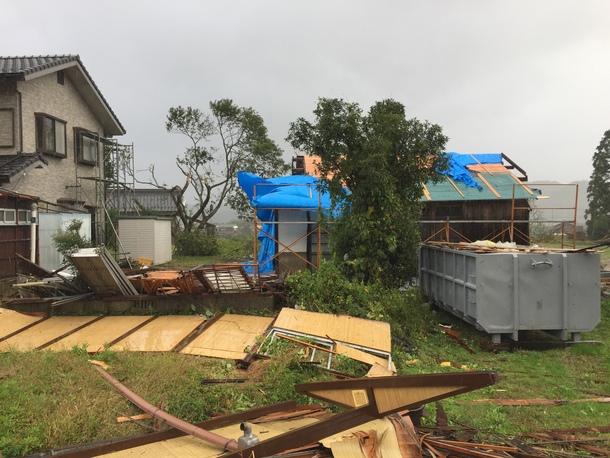 台風の影響①