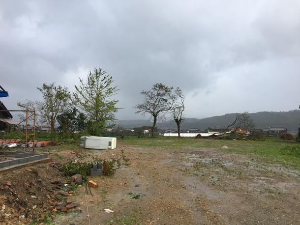台風の影響で、倒木③