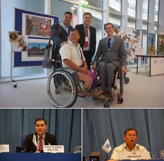 5月に投融資禁止キャンペーンで来日したアフガニスタンのフィロズ氏と7月にJCBL20周年イベントで来日したチャンナレット氏