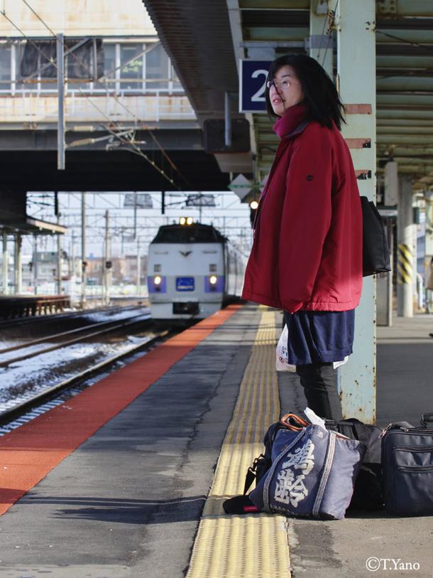 苫小牧駅に入線する北斗88号
