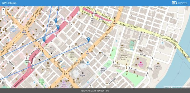 GPSBlumoブラウザPC画面