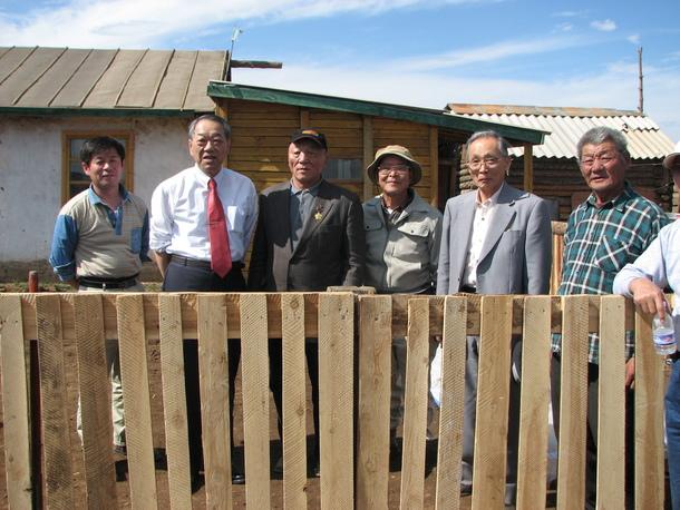 モンゴルで初めてのコメ作り 2008.06.15