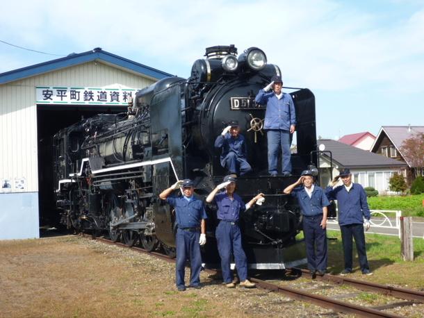 安平町鉄道資料館とSL保存協力会