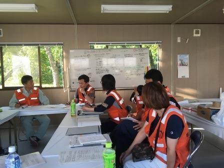 災害ボランティアセンターの定例会議