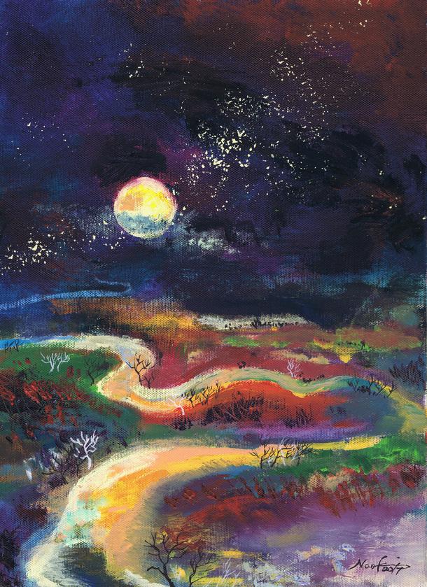 月夜の釧路湿原2017