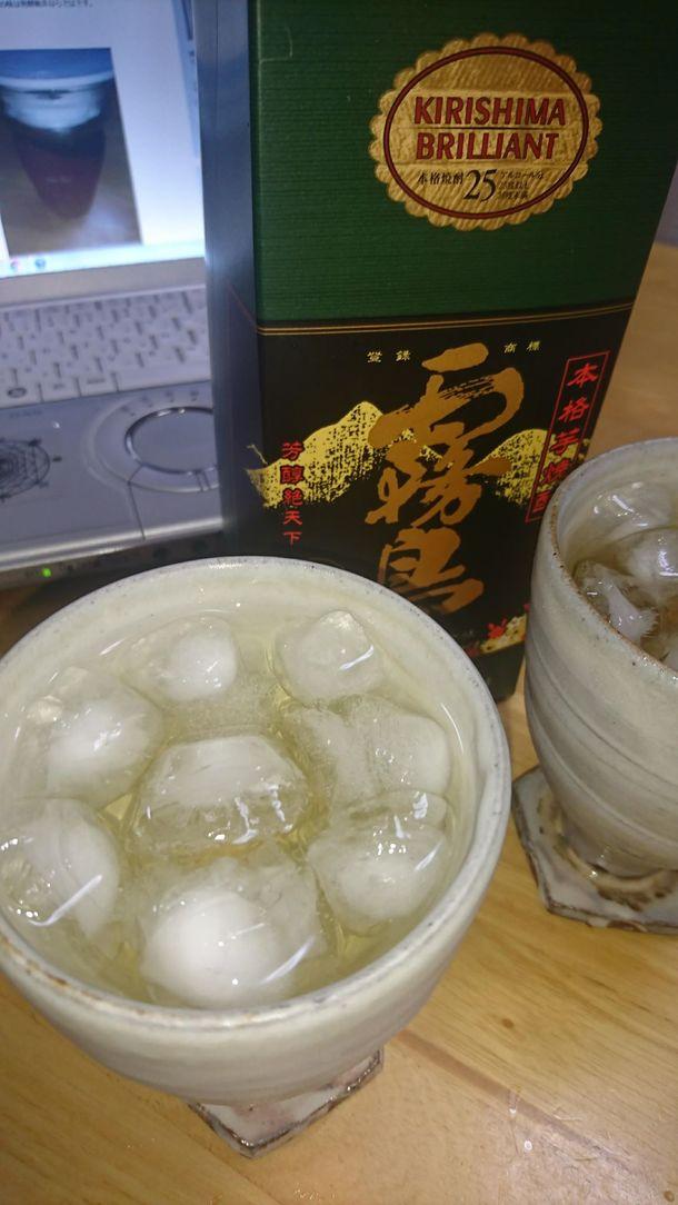 芋焼酎水割り上勝町乳酸発酵阿波晩茶40日発酵