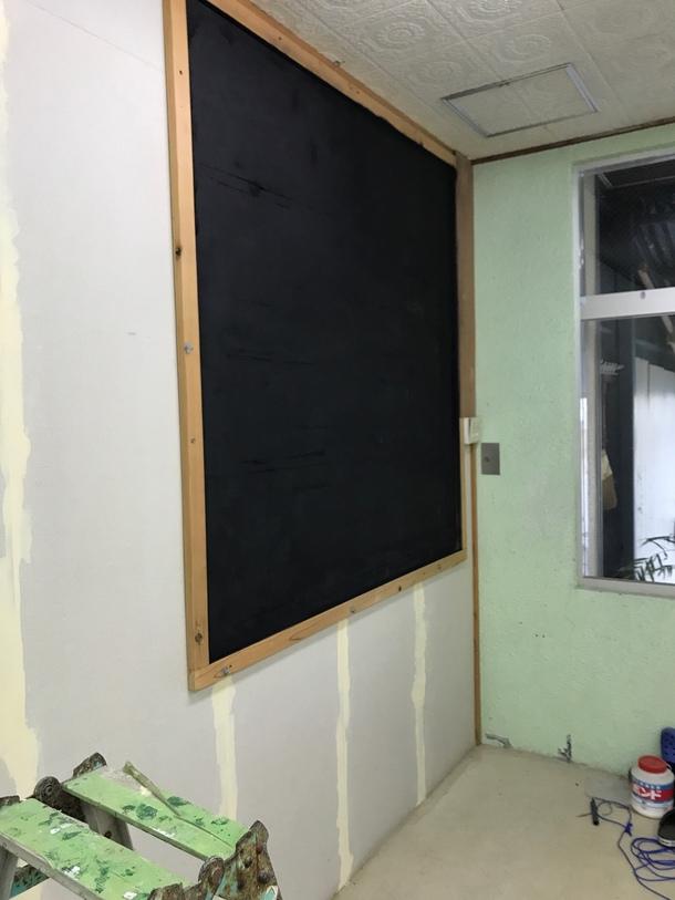 黒板作りました