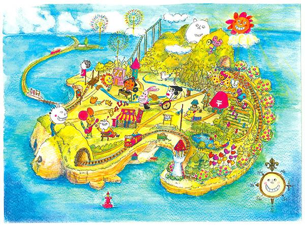 ふくの島の地図
