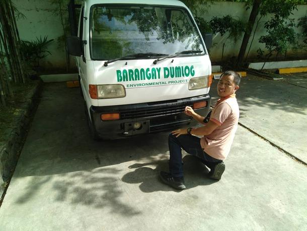 協同団体Glemar氏と村の名を記した車輌