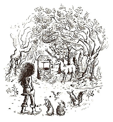アリーテ姫の冒険 挿絵