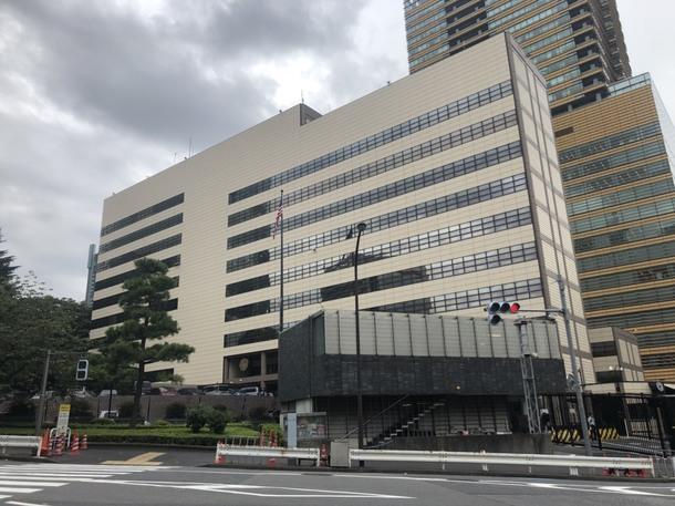 事故直後に測定をしていたアメリカ大使館(東京・港区)