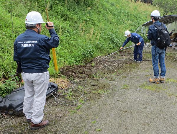 熊本地震現地調査の様子