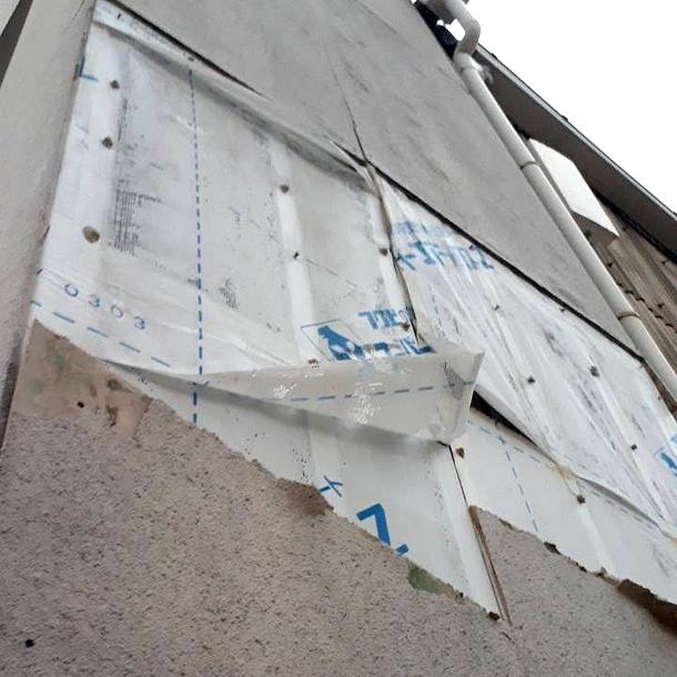 落ちた外壁