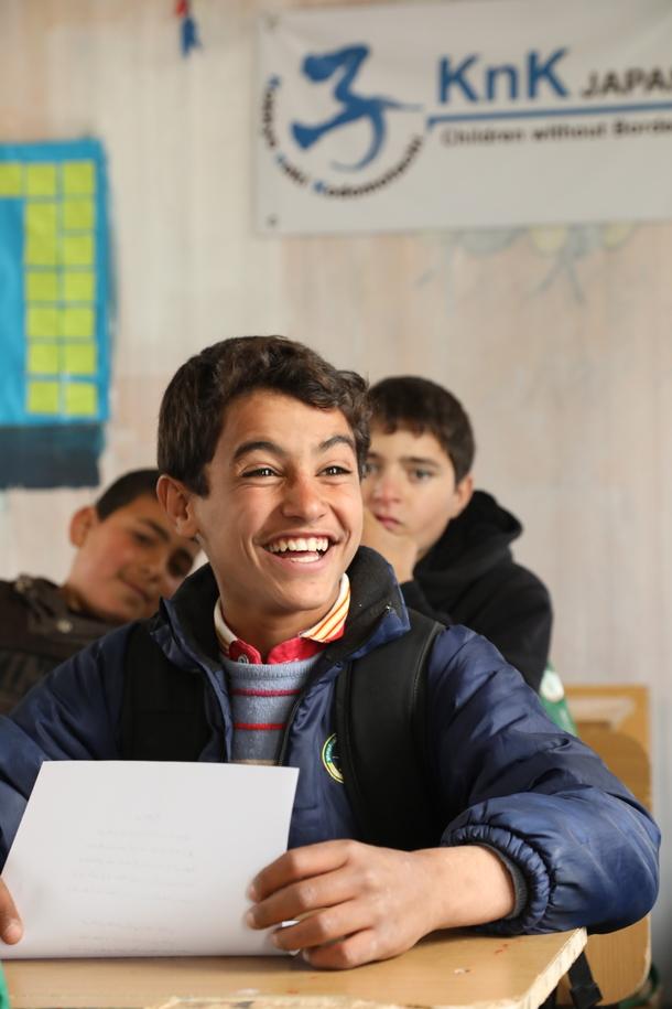 ザアタリ難民キャンプ内、KnKの授業
