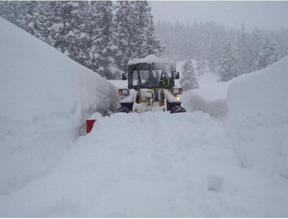 豪雪の写真
