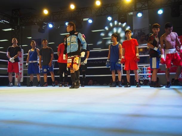 日越ボクシング交流戦選手たち