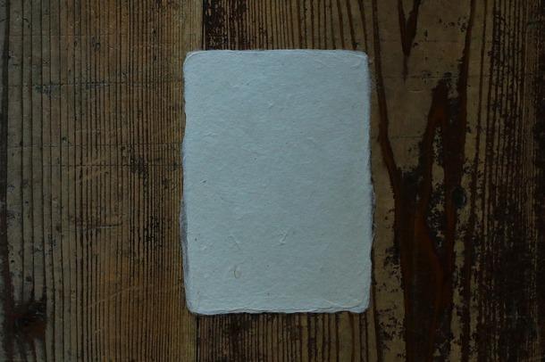 長田製紙所 天然紙 耳付きはがき